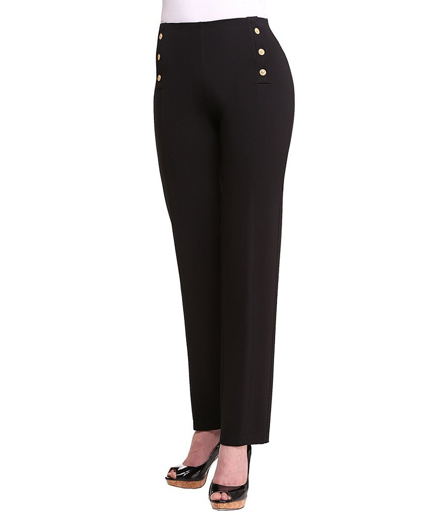 ADX SLIMS by Allison Daley Nautical Straight Leg Pants