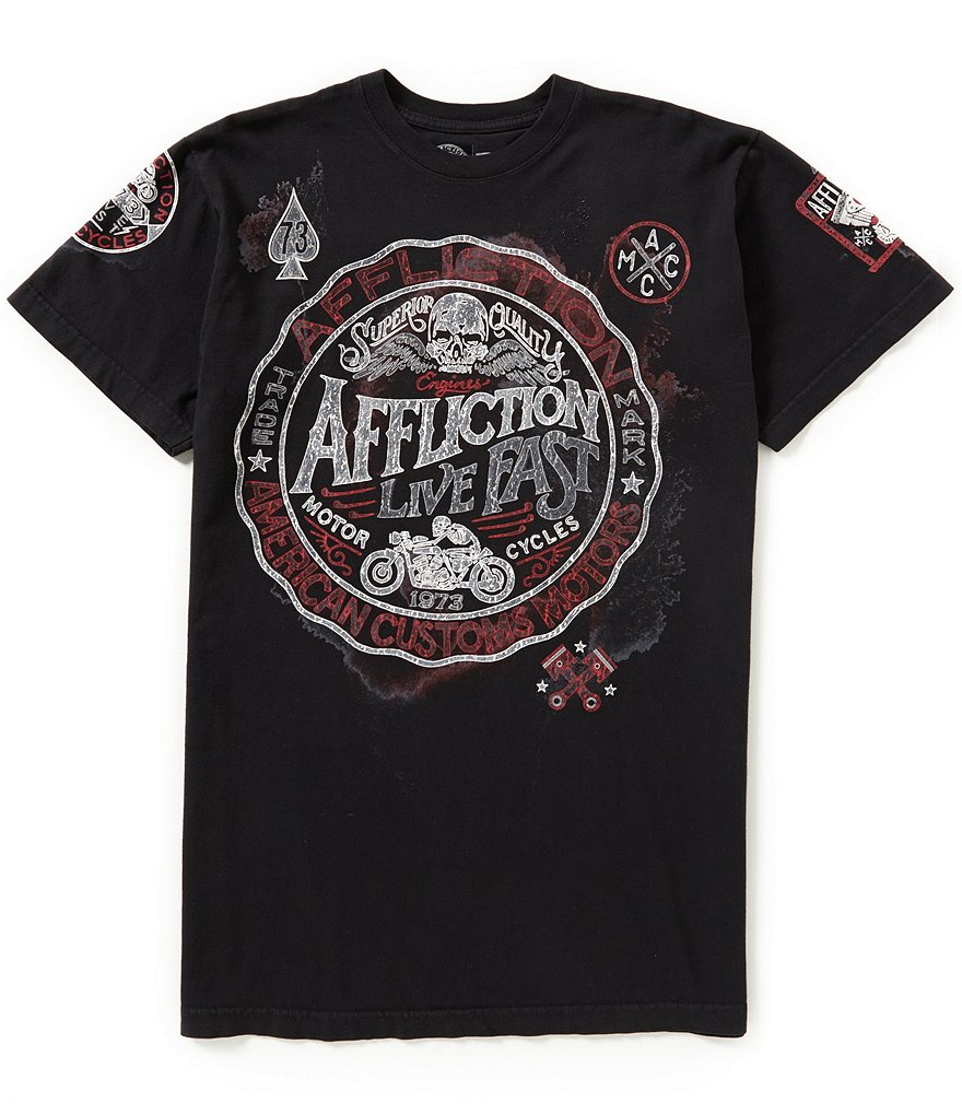 Affliction Ac Superior Speed Short-Sleeve Graphic Tee