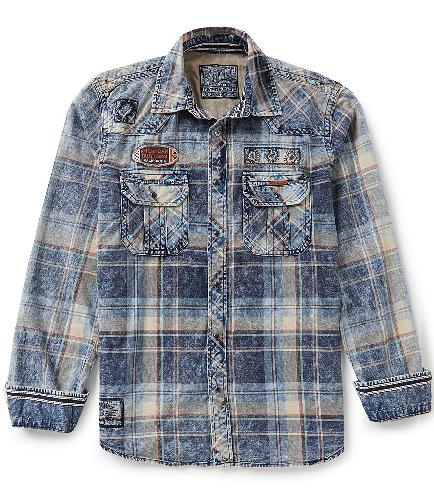 Affliction Rebound Long-Sleeve Plaid Shirt