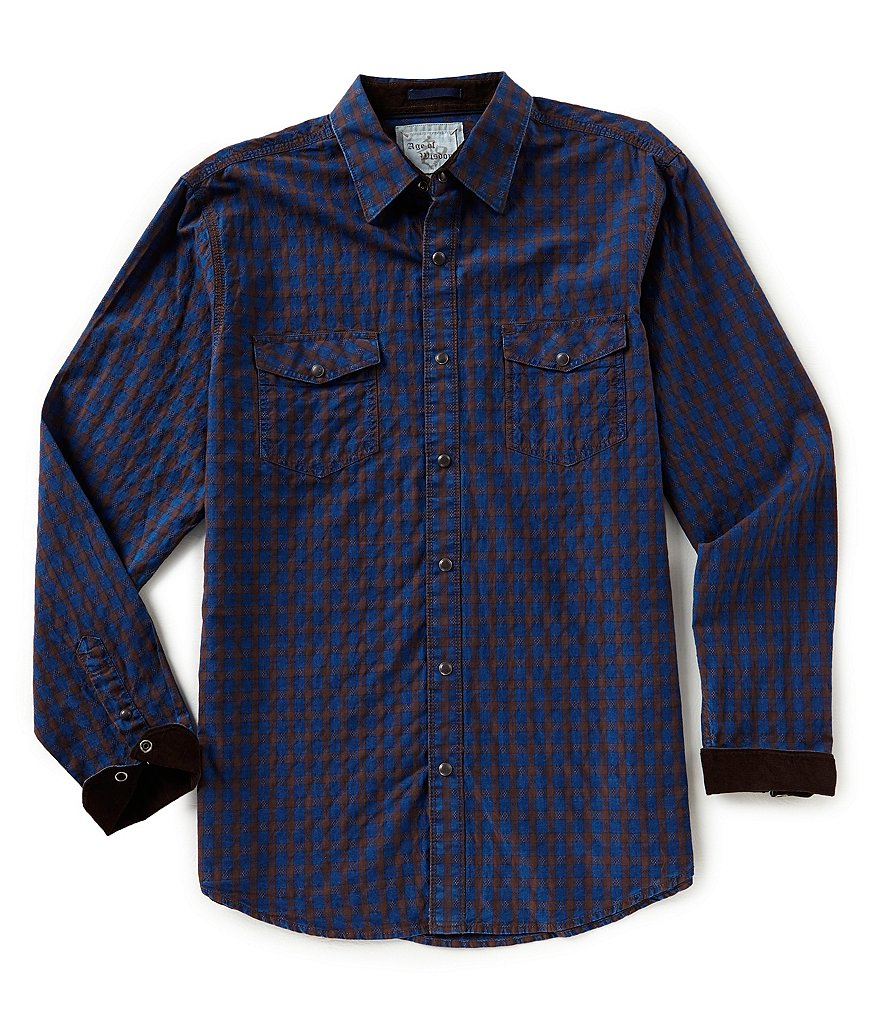 Age of Wisdom Gingham Long-Sleeve Woven Shirt