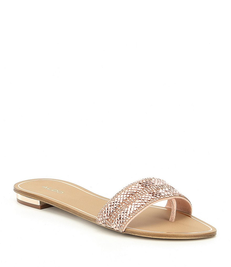 ALDO Cadilinna Embellished Thong Slide Sandals