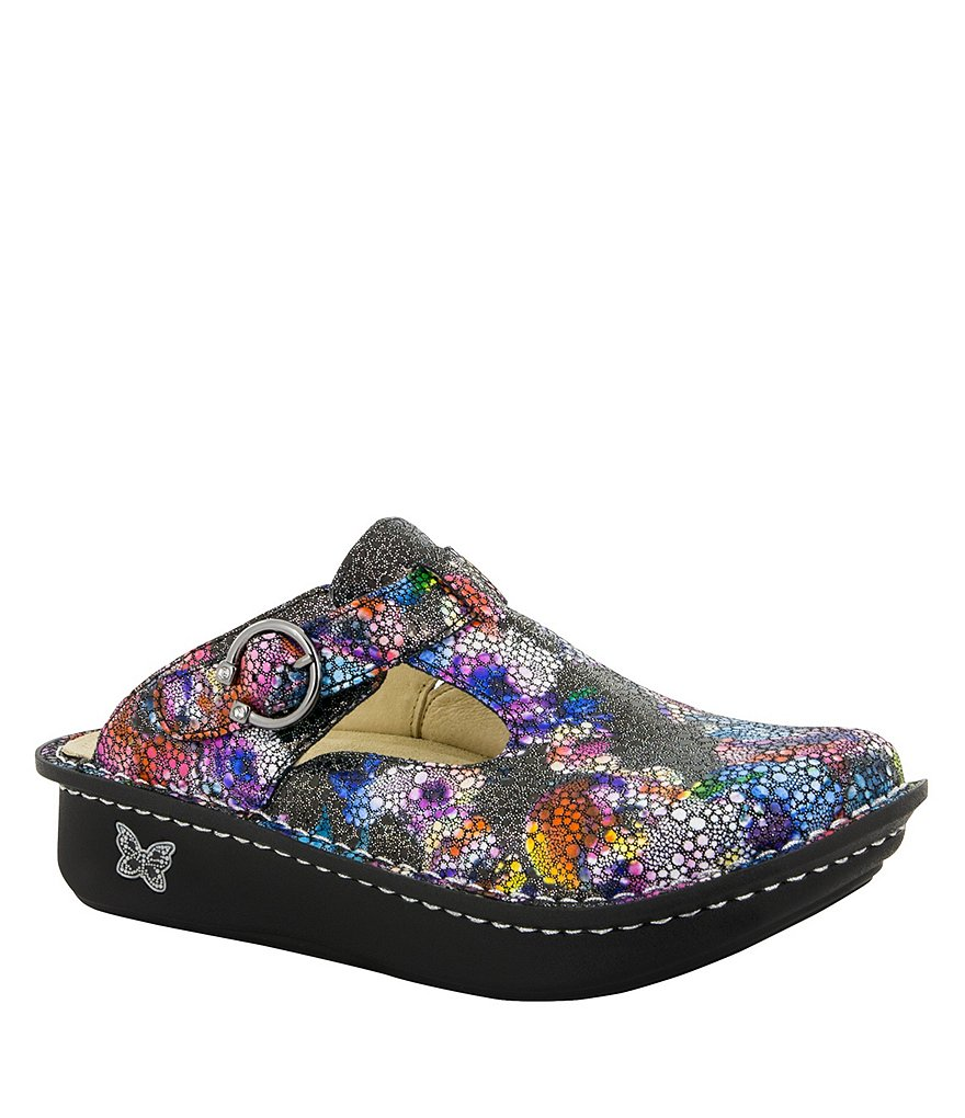 Alegria Classic Printed Leather Clogs