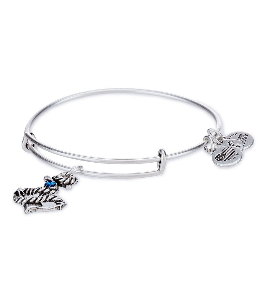 Alex and Ani Anchor Charm Bangle Bracelet