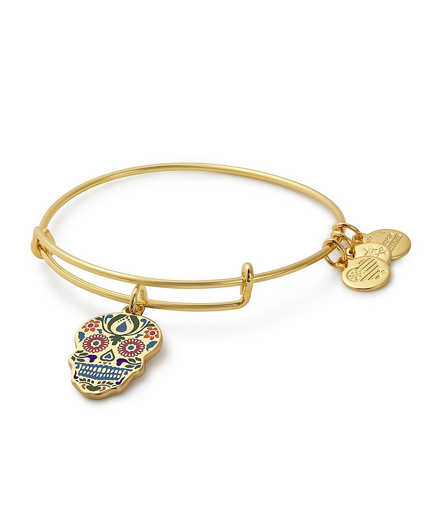 Alex and Ani Calavera Color Infusion Charm Bangle Bracelet