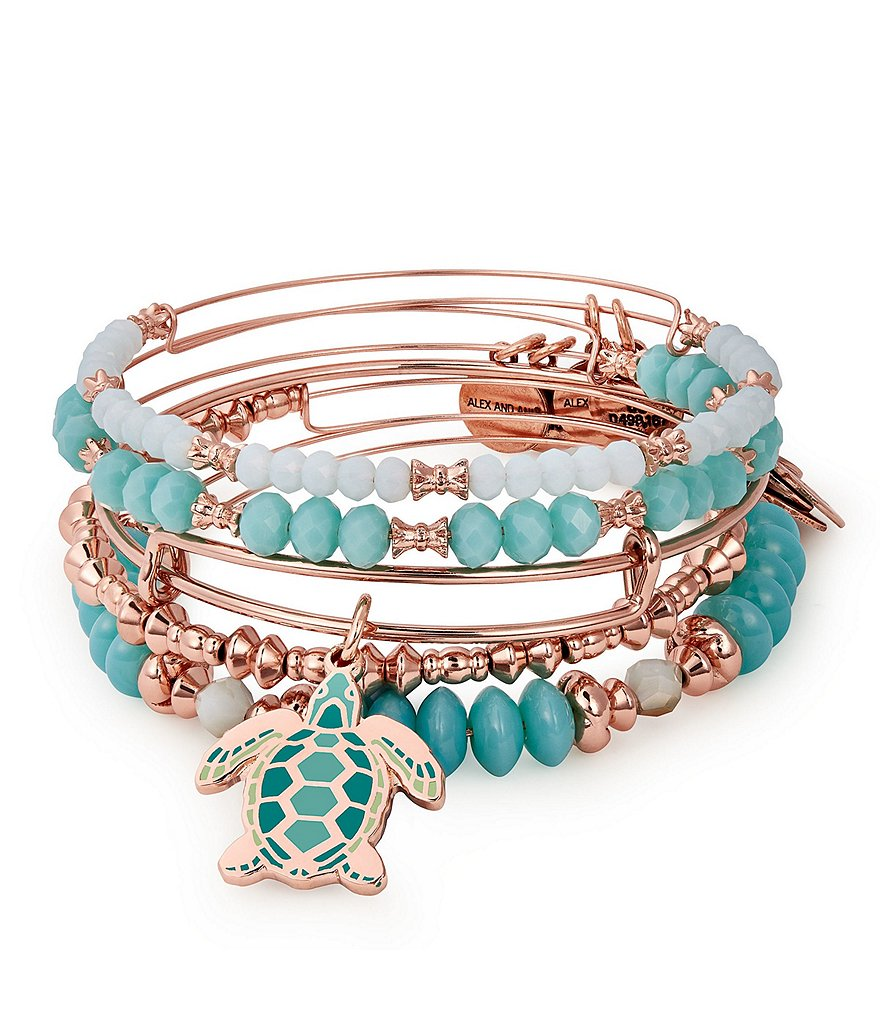 Alex and Ani Go With The Flow Color Infusion Set of 5 Bangles