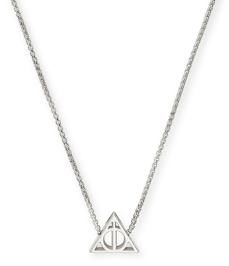 Alex and Ani Harry Potter™ Deathly Hallows™ Sterling Silver Fine Necklace