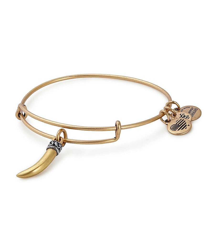 Alex and Ani Horn Charm Bangle Bracelet