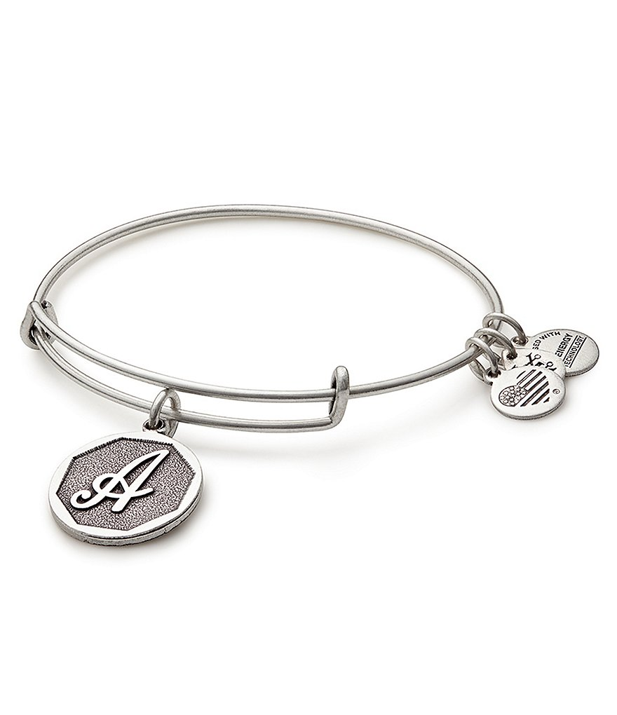 Alex and Ani Initial Charm Bangle Bracelet
