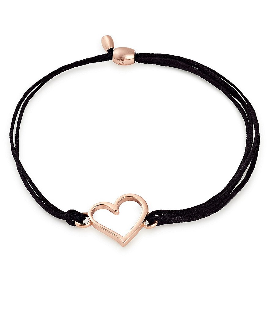 Alex and Ani Kindred Cord Heart Pull Cord Bracelet