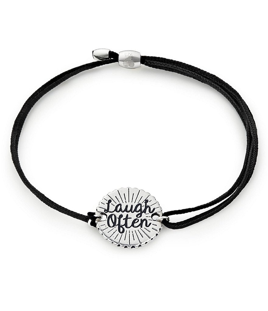 Alex and Ani Laugh Often Pull Cord Bracelet