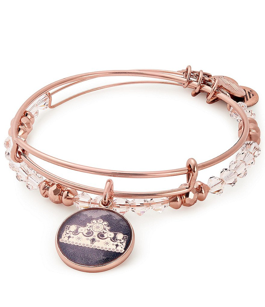 girls charm absolute bangles rose january bangle gold jewellery mcelhinneys