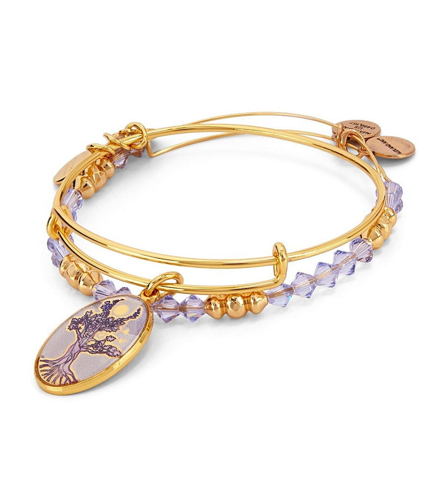 Alex and Ani Tree of Life Art Infusion Bangle Set