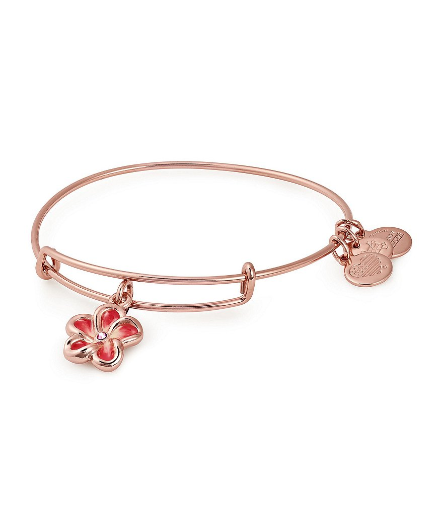Alex and Ani Tropical Flower Color Infusion Charm Bangle
