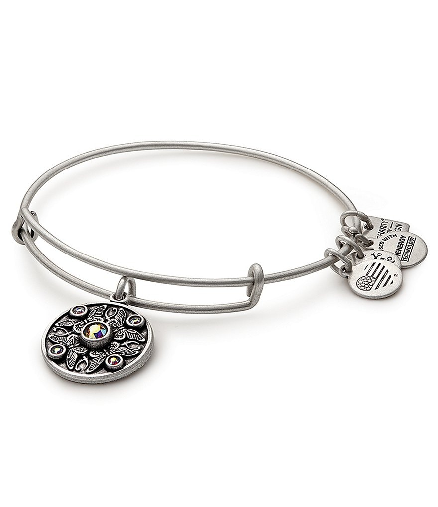 Alex and Ani Wings of Change Charm Bangle Bracelet