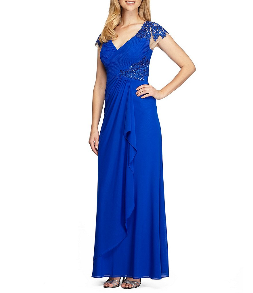 Alex Evenings Embroidered A-Line Gown