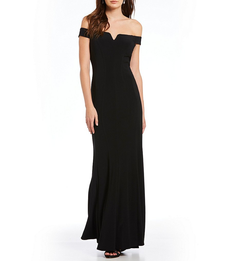Alex Evenings Off-the-Shoulder Matte Jersey Gown