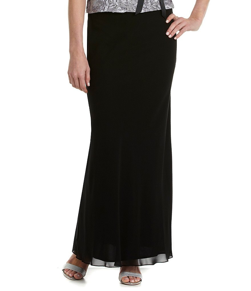 Alex Evenings Petite Chiffon A-Line Skirt