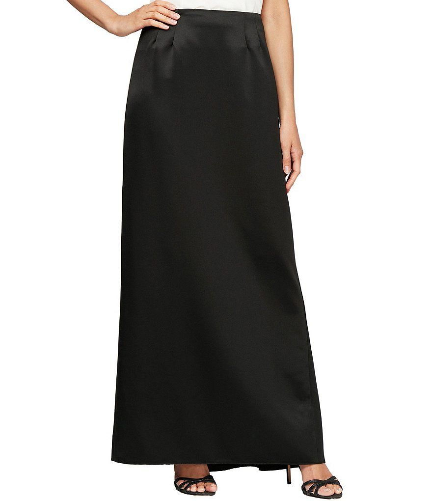 Alex Evenings Satin Fishtail Skirt