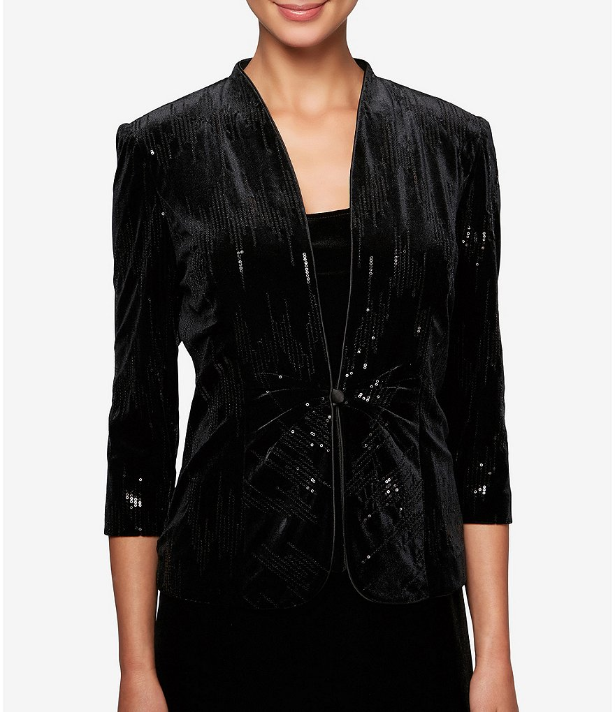 Alex Evenings Sequined Velvet Twinset