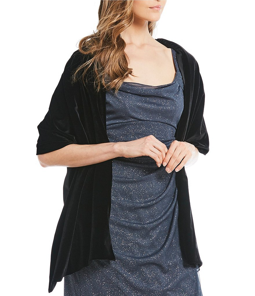 Alex Evenings Velvet Shawl Dress Cover Up
