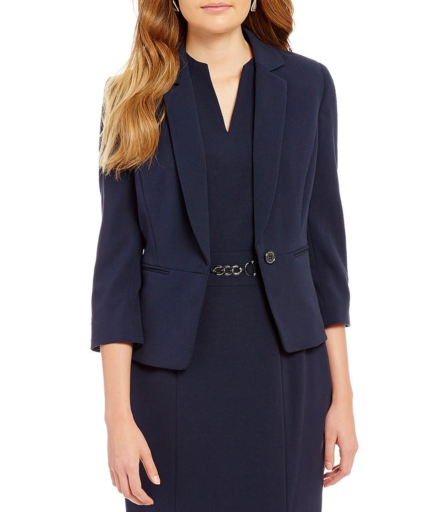 Alex Marie Angelica One-Button Front Blazer Jacket