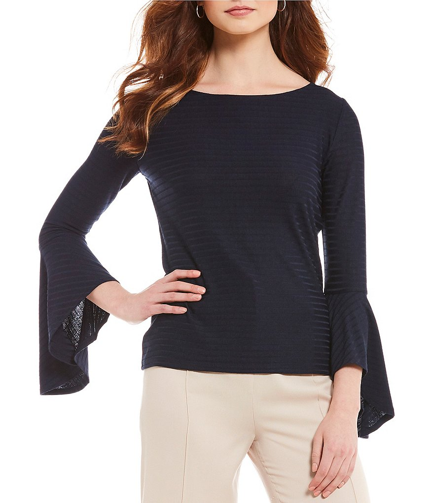 Alex Marie Halie Knit Bell Sleeve Top