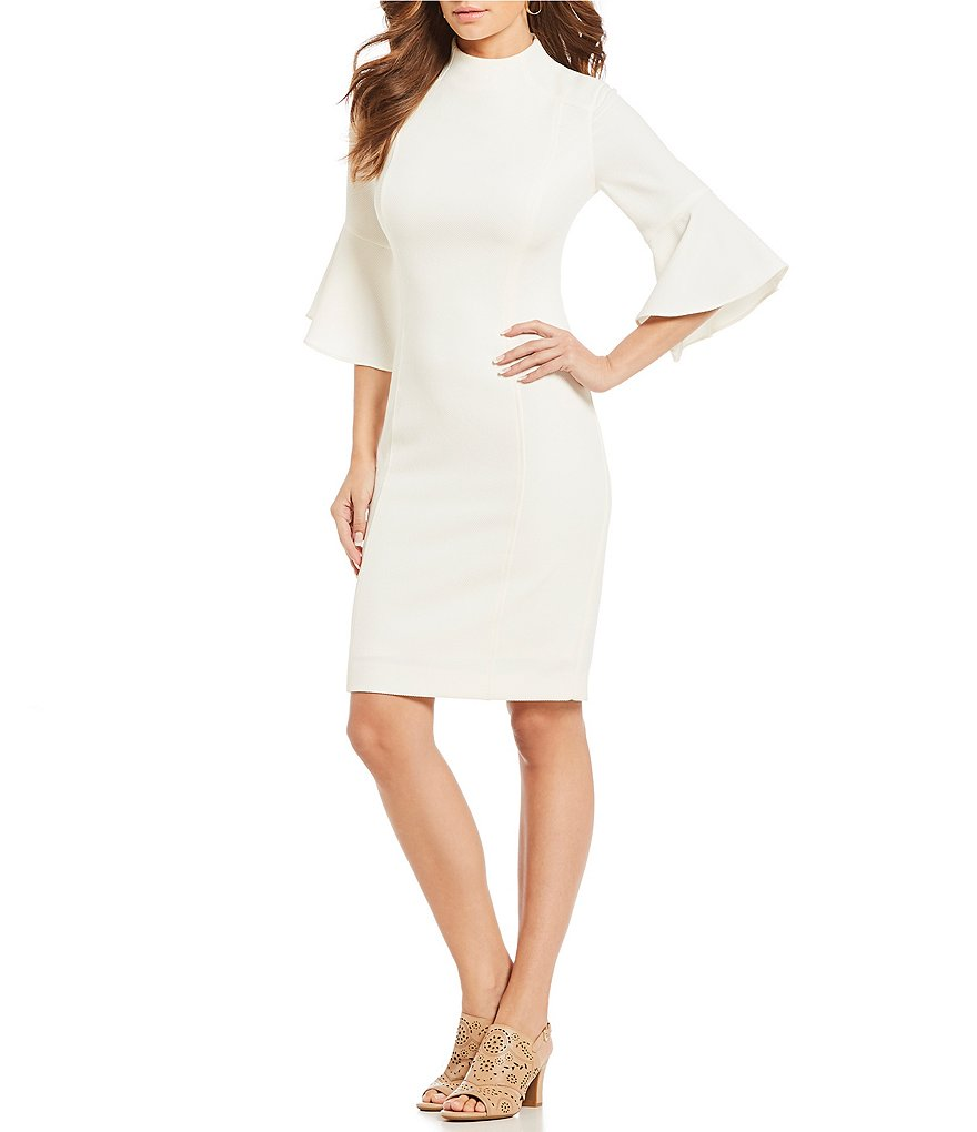 Alex Marie Judge Bell Sleeve Sheath Dress