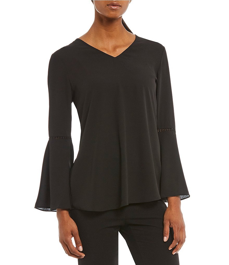 Alex Marie Julia Bell Sleeve Blouse