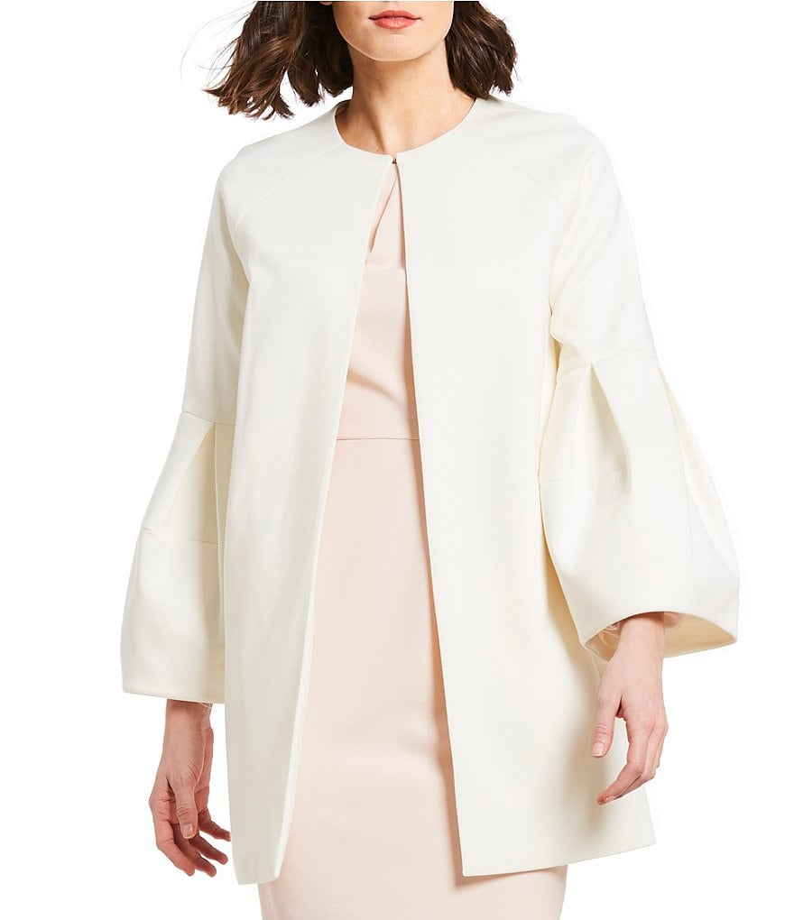 Alex Marie Kayla Ponte Coat with Bell Sleeves