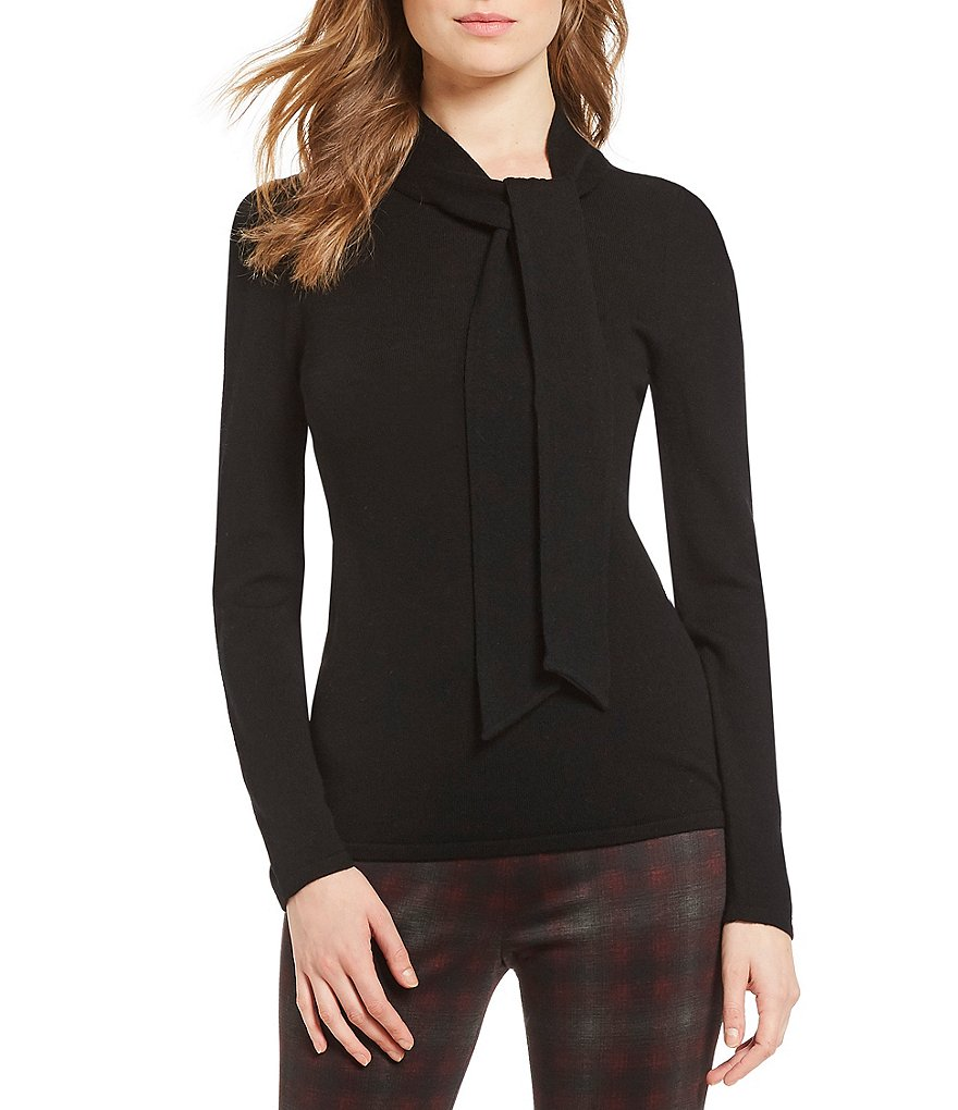 Alex Marie Kendall Tie Turtleneck Sweater