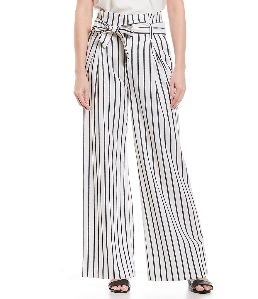 Alex Marie Madison Striped Novelty Tie Front Pant