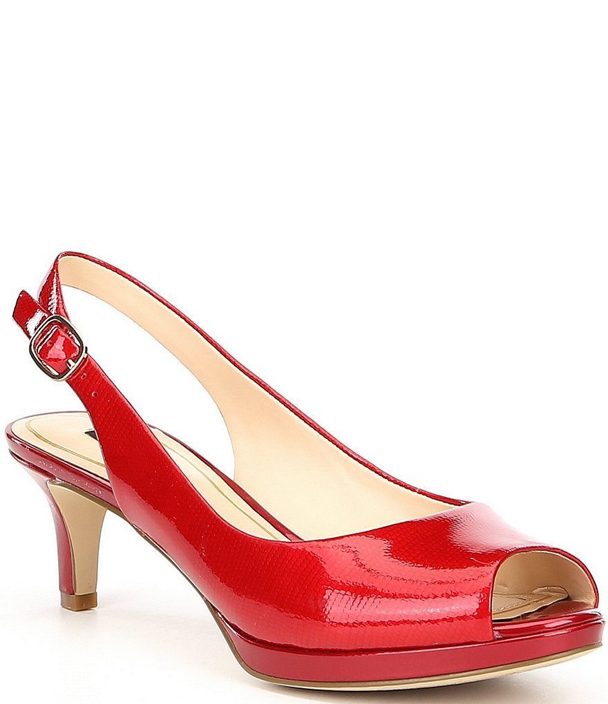 Alex Marie Melanie Patent Leather Slingback Pumps