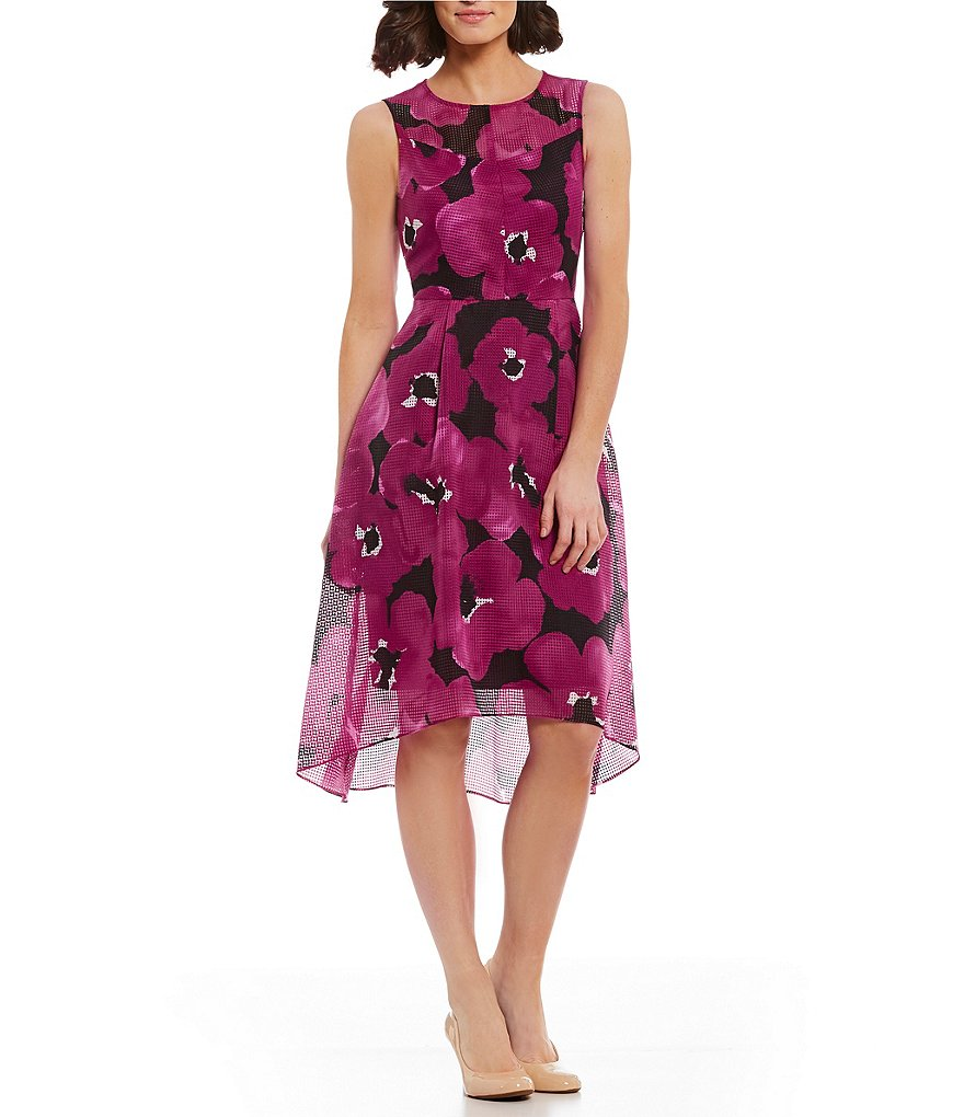 Alex Marie Mila Flower Weave High-Low Dress