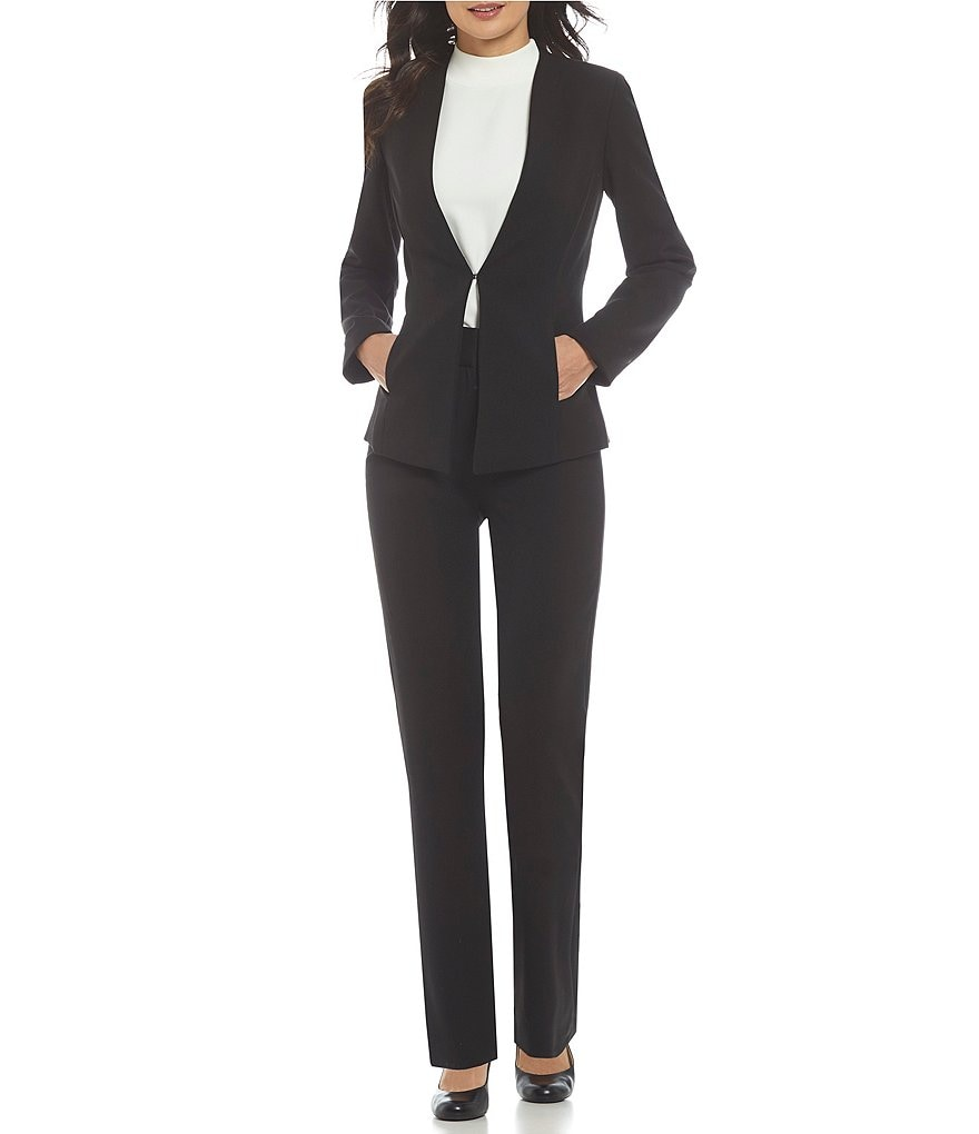 Alex Marie Wayne Twill Crepe Suiting Jacket & Tina Twill Crepe Suiting Pant