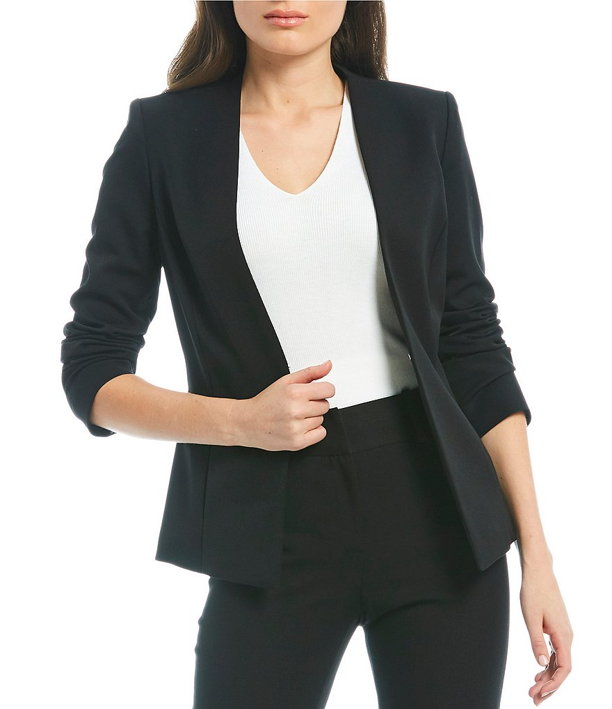 Alex Marie Wayne Twill Crepe Suiting Jacket