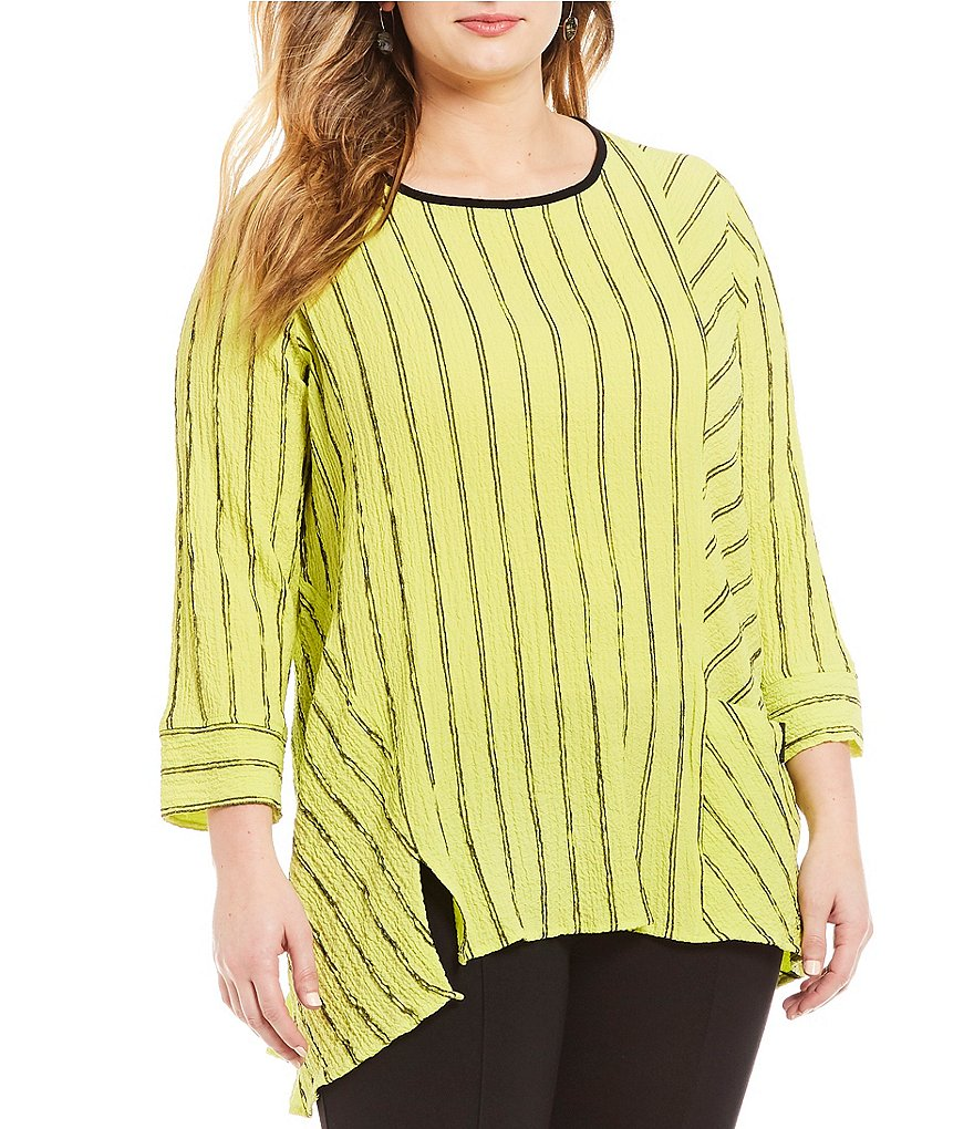 Ali Miles Plus Striped Tunic
