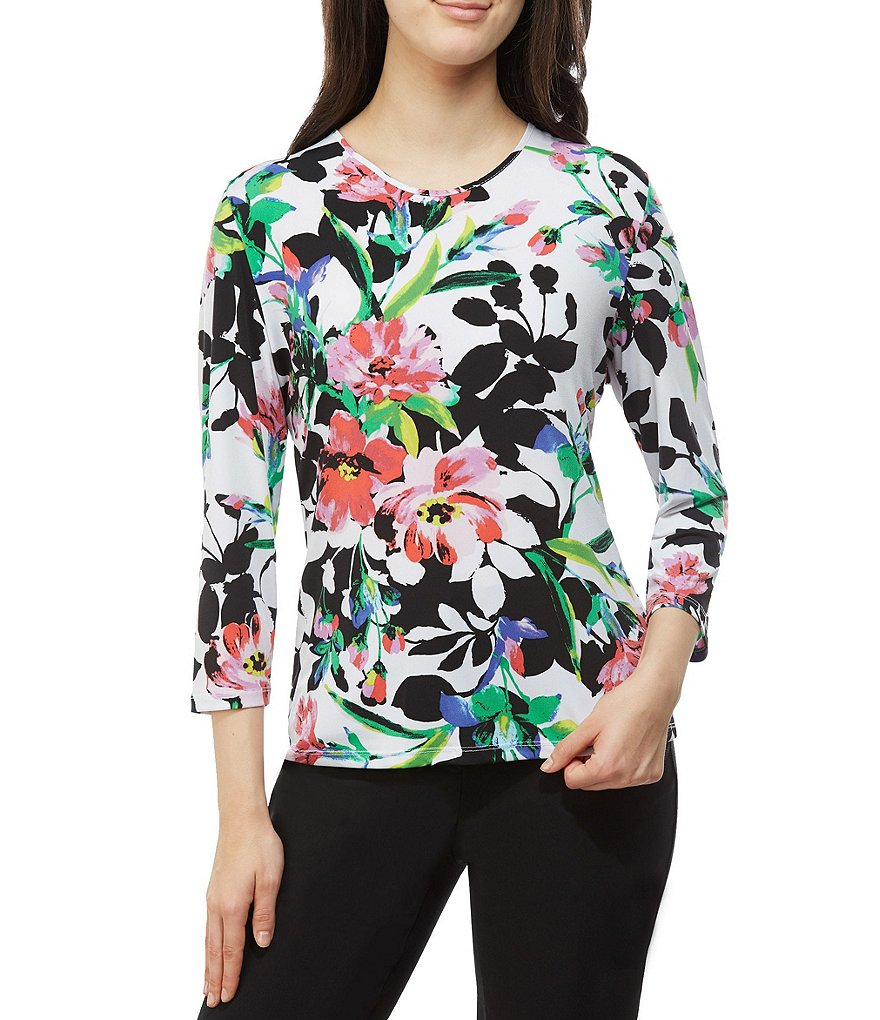 Allison Daley Floral Print Tee