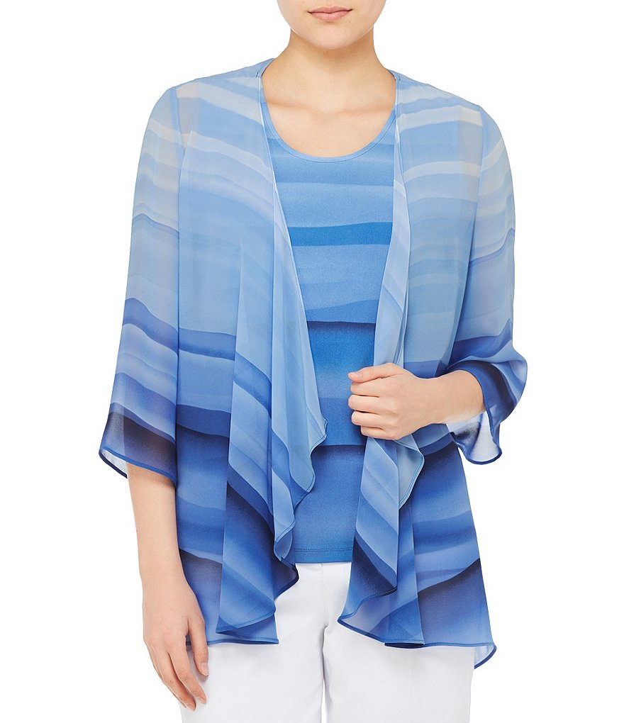 Allison Daley Open Front Cascade Cardigan