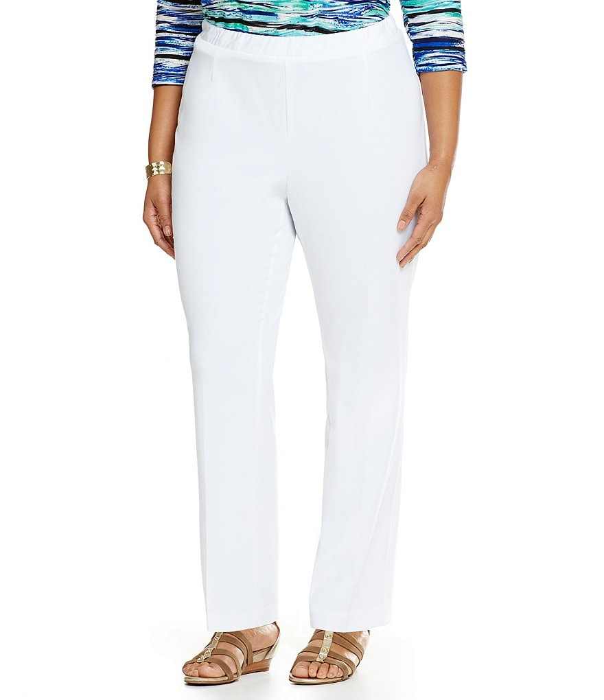 Allison Daley Plus Pull-On Solid Pant