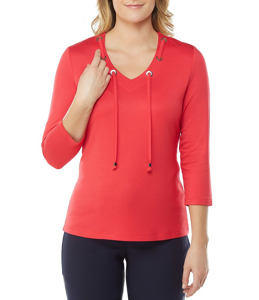 Allison Daley V-Neck Ponte Top