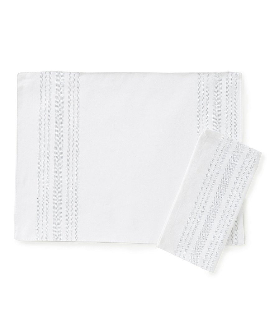 Aman Imports Striped Table Linens