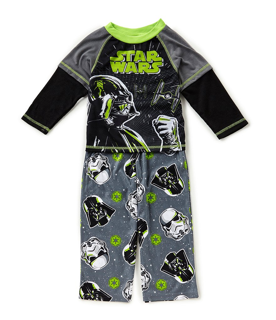 AME Little/Big Boys 4-10 Star Wars Top & Pants Pajama Set
