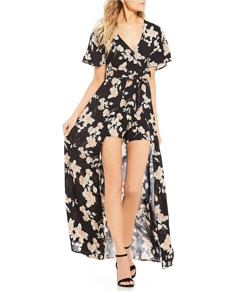 Angie Floral-Printed Maxi Romper