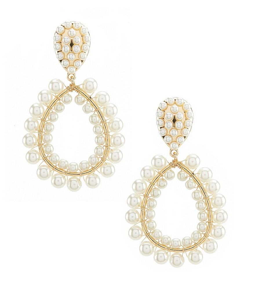 Anna & Ava Donna Faux-Pearl Statement Drop Earrings