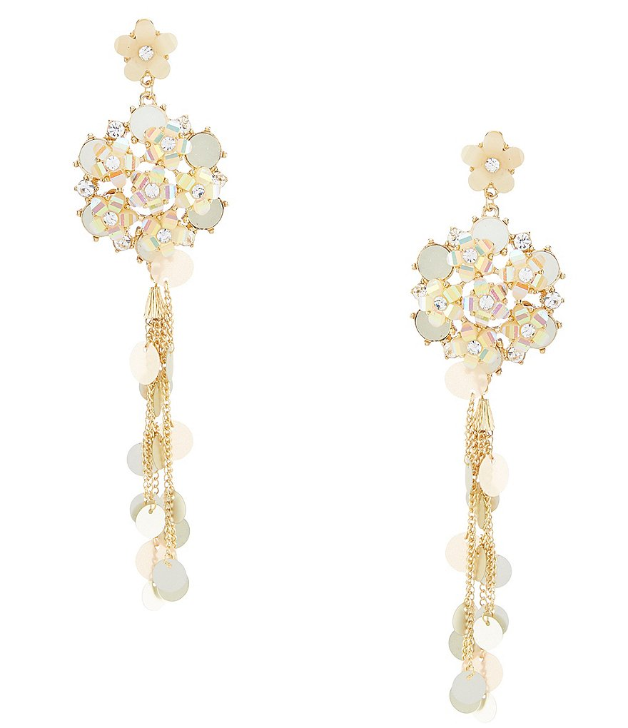Anna & Ava Everly Champagne Floral Statement Earrings