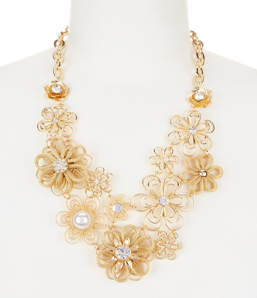 Anna & Ava Flower Party Statement Necklace