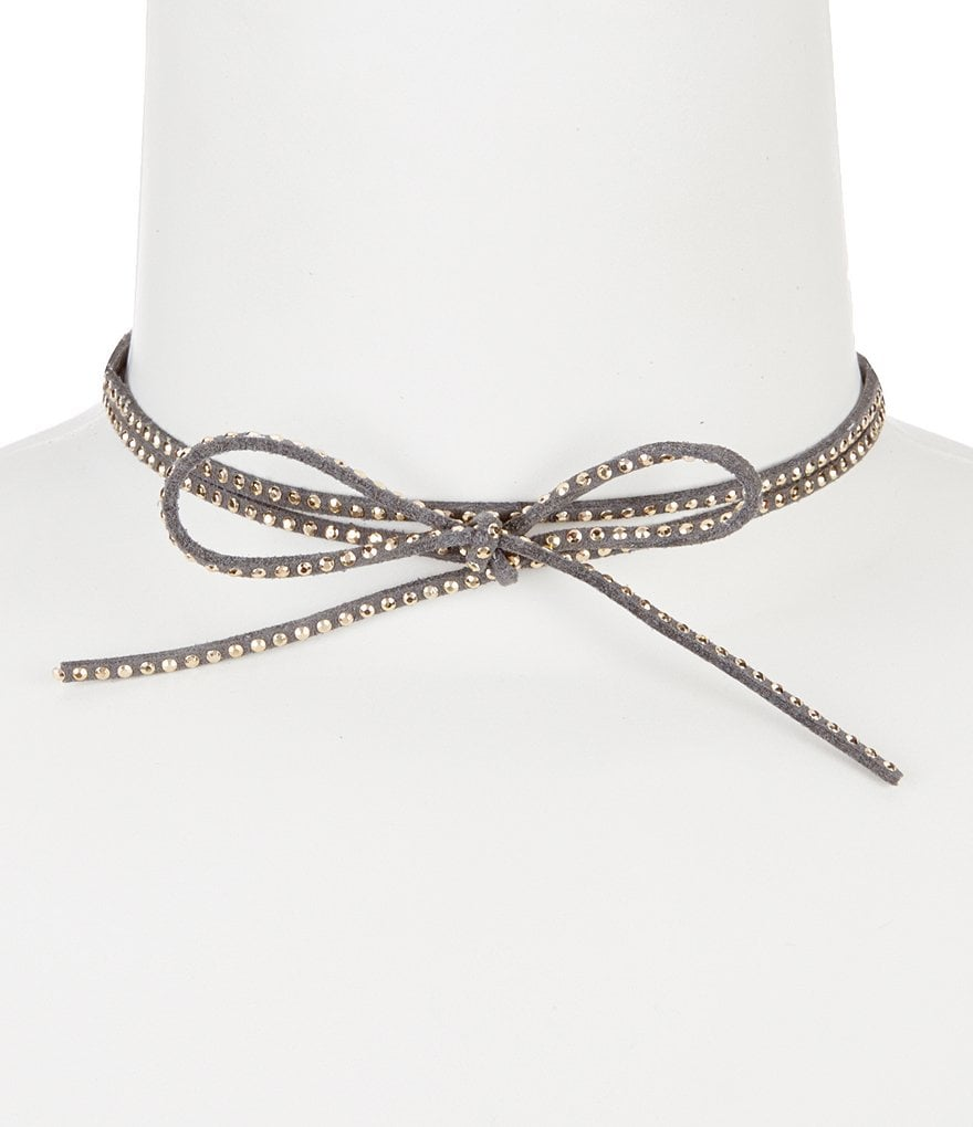 Anna & Ava Studded Suede Choker Necklace
