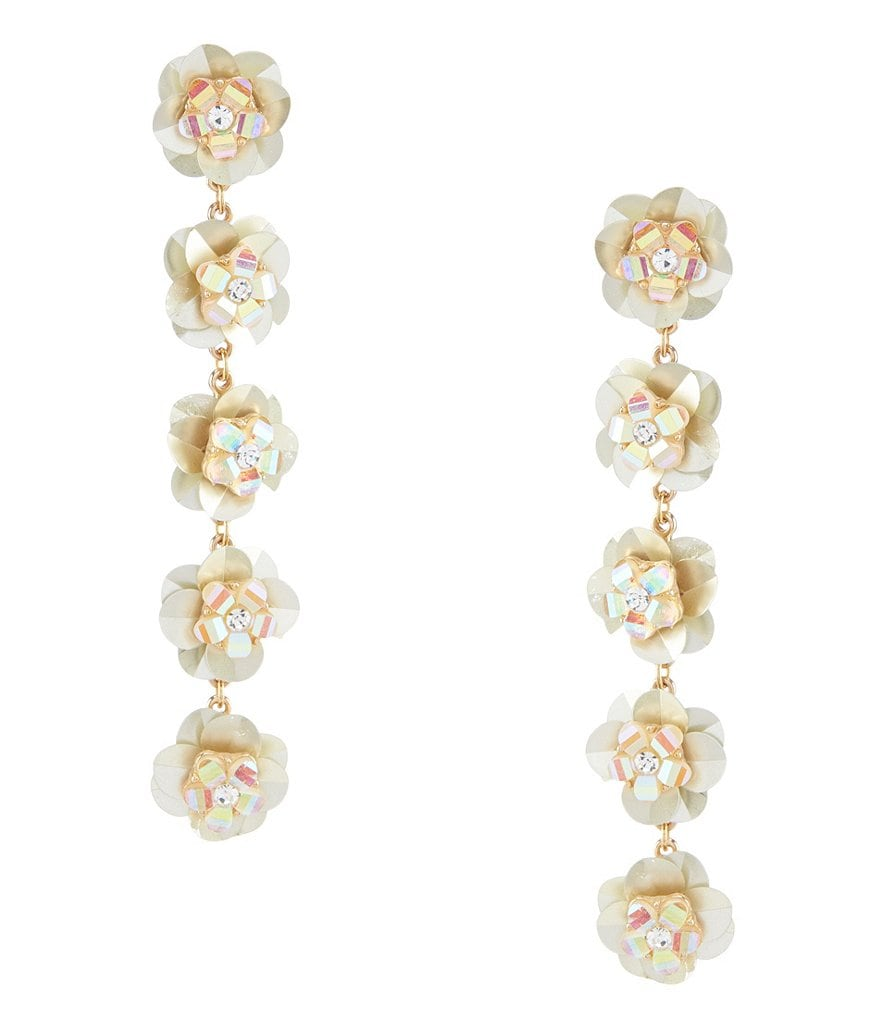 Anna & Ava Layla Champagne Floral Statement Earrings