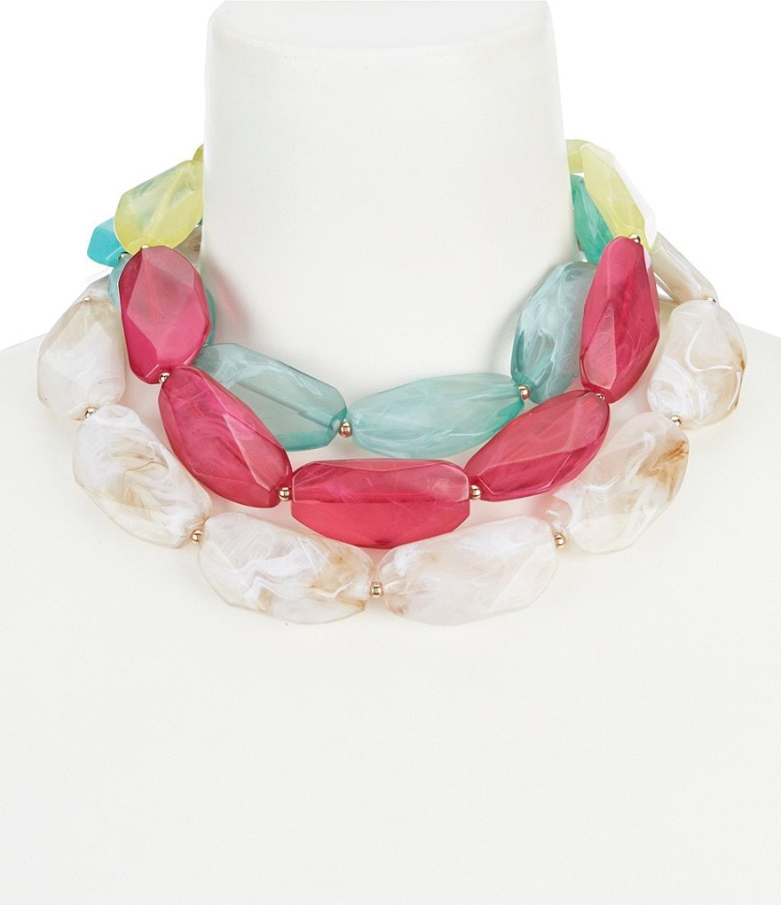 Anna & Ava Molly Multi Colored Statement Necklace