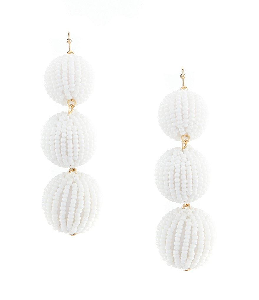 Anna & Ava Reese Beaded Three Drop Statement Earring